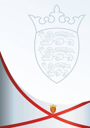 bailiwick: Flag of Jersey, template awards, an official document with the flag and the symbol of Jersey
