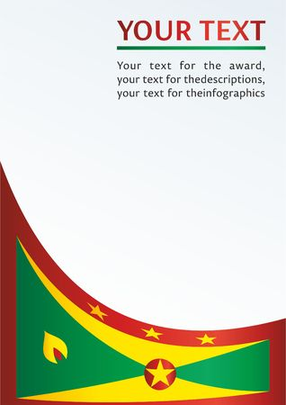 Flag of Grenada, template for the award, an official document with the flag of Grenada Illustration