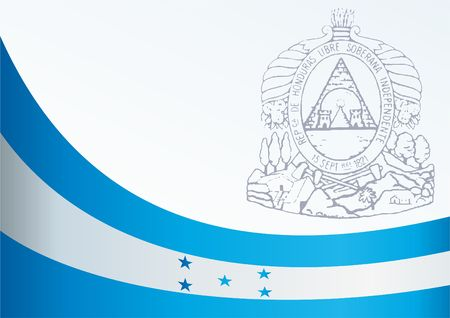 bandera honduras: Flag of Honduras, template for the award, an official document with the flag and the symbol of the Republic of Honduras