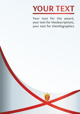 Flag of Jersey, template for the award, an official document with the flag of Jersey