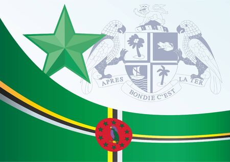 Flag of Dominica, template for the award, an official document with the flag and the symbol of the Commonwealth of Dominica