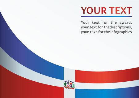 도미니카 공화국의 국기, 상을위한 템플릿, 도미니카 공화국의 국기가있는 공식 문서