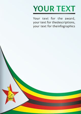 Flag of Zimbabwe, template for the award, an official document with the flag of Zimbabwe