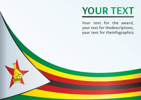 zimbabwe: Flag of Zimbabwe, template for the award, an official document with the flag of Zimbabwe