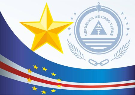 Flag of Cape Verde, template for the award, an official document with the flag and the symbol of the Cape Verde