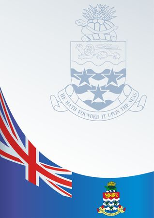 Flag of the Cayman Islands, template for the award, an official document with the flag and the symbol of the Cayman Islands