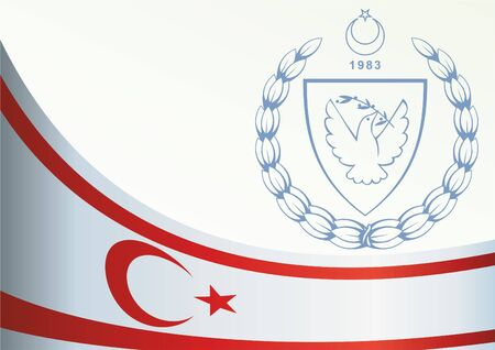Flag of Northern Cyprus, template for the award, an official document with the flag and the symbol of Northern Cyprus.