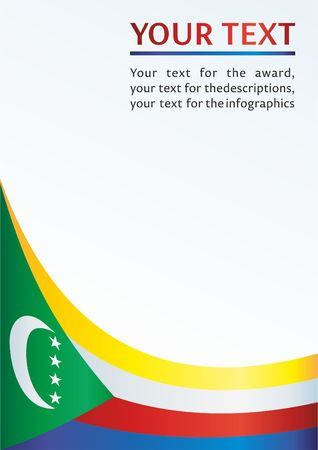 Flag of the Comoros, template for the award, an official document with the flag of the Comoros