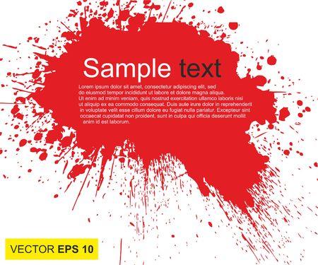 Vector illustratie. Groot realistisch bloed bespat op witte achtergrond Stockfoto - 78968286