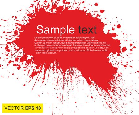 Vector illustration. Big realistic blood splashed on white background