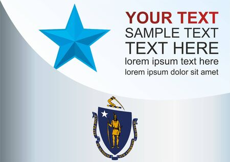 Template for the award, an official document with the flag of the state of Massachusetts.
