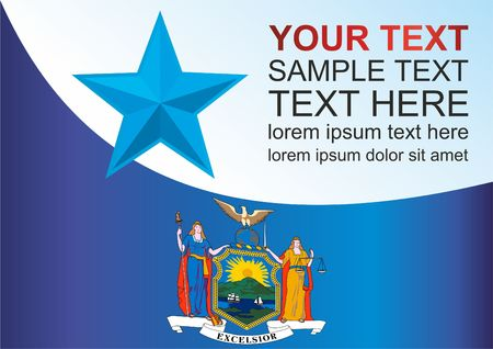 Template for the award, an official document with the flag of the state of New York.