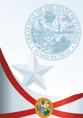 Flag of Florida, the template for the award, an official document with the flag of Florida