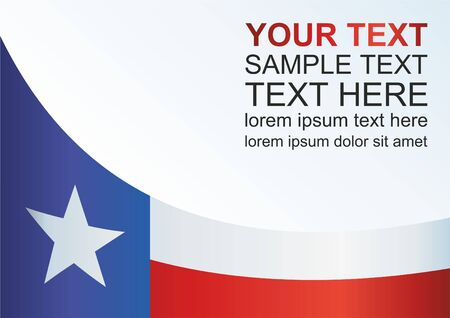 Flag of the state of Texas, template for the award, an official document with the flag of the state of Texas