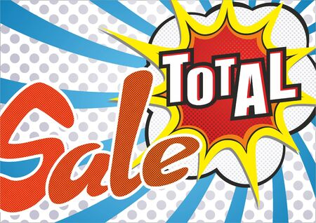 Sale Image of an explosion with the words Sale total