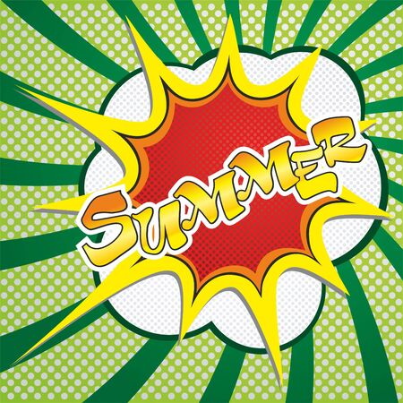 Summer vector image of an explosion with the words.