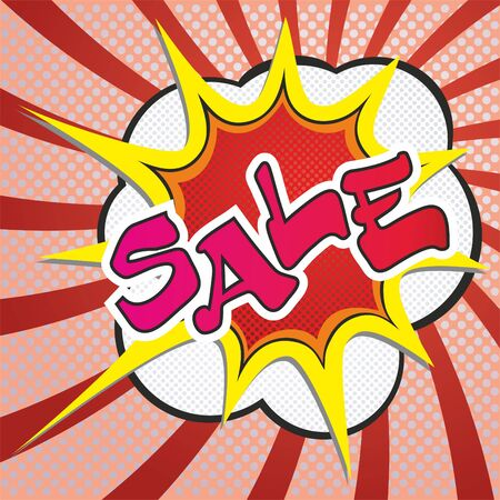 Sale vector image of an explosion with the words. Illusztráció