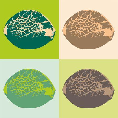 Cannabis zaden. Vector illustratie.