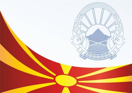 Flag of the Republic of Macedonia, template for the award, and the official document with the flag and the symbol of the Republic of Macedonia Illustration