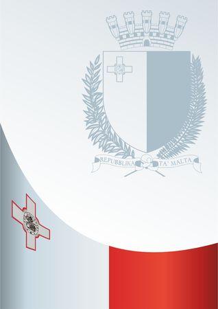 몰타의 국기, 수상을위한 템플릿, 플래그와 몰타의 공식 문서