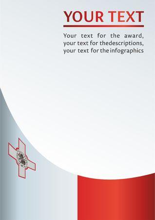 몰타의 국기, 수상을위한 템플릿, 몰타의 국기와 공식 문서 스톡 콘텐츠 - 81477736