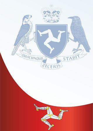 賞、フラグと、マン島王冠の依存関係、イギリスの王国のシンボル公式文書用のテンプレートのマン島の旗