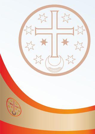 De vlag van het grondgebied van Malorossia of Little Russia. Voormalige republieken Donetsk en Lugansk, gebaseerd op de vlag van Bogdan Khmelnitsky, een niet-erkende staat Stock Illustratie