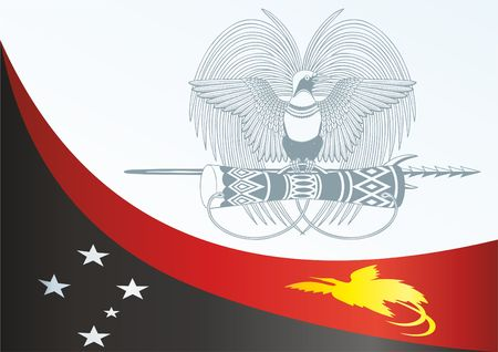Flag of Papua New Guinea, template for the award, an official document with the flag and the symbol of Papua New Guinea