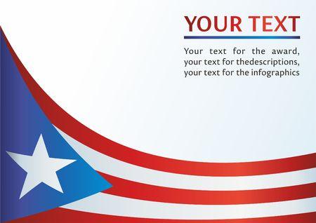 Vlag van Puerto Rico, Commonwealth van Puerto Rico, sjabloon voor de toekenning, een officieel document met de vlag van Puerto Rico