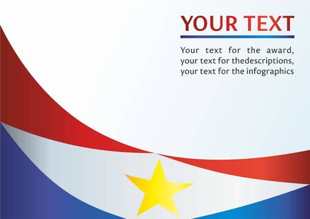 Flag of Saba, Caribbean Netherlands, template for an award