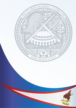 Flagge von Amerikanisch-Samoa, Vorlage für die Auszeichnung, ein offizielles Dokument mit der Flagge und dem Symbol von Amerikanisch-Samoa Standard-Bild - 83809927