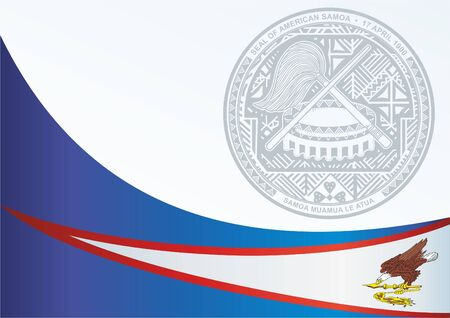 Flag of American Samoa, template for the award, an official document with the flag and the symbol of American Samoa