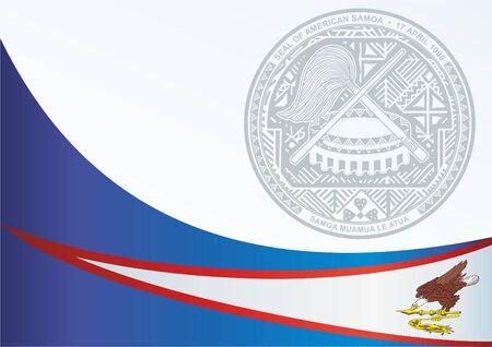 Flagge von Amerikanisch-Samoa, Vorlage für die Auszeichnung, ein offizielles Dokument mit der Flagge und dem Symbol von Amerikanisch-Samoa Standard-Bild - 83809928