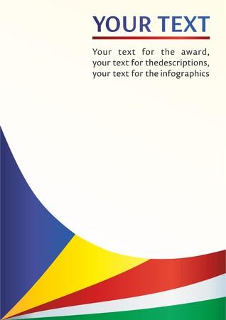 セーシェル共和国の旗とセイシェル、賞のためのテンプレートは、公式文書の旗