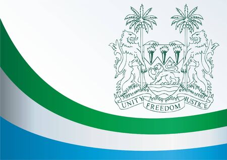 Flag of Sierra Leone, template for the award, an official document with the flag and the symbol of Sierra Leone