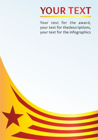 Flag of Catalonia, Autonomous communities of Spain, is an unofficial flag Catalan separatists, template for the award, an official document with the flag of Catalonia Çizim