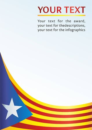 Flag of Catalonia, Autonomous communities of Spain, is an unofficial flag Catalan separatists, template for the award, an official document with the flag of Catalonia Иллюстрация