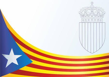 카탈루냐의 국기, 스페인의 자치 커뮤니티, 비공식적 인 플래그 카탈로니아 분리 주의자, 상을위한 템플릿, 카탈로니아의 상징과 기호 공식 문서입니