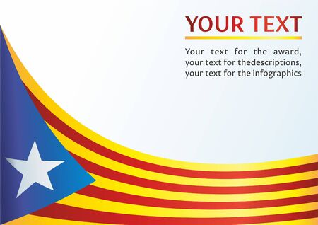 Flag of Catalonia, Autonomous communities of Spain, is an unofficial flag Catalan separatists, template for the award, an official document with the flag of Catalonia Illustration