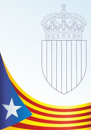 Flag of Catalonia, Autonomous communities of Spain, is an unofficial flag Catalan separatists, template for the award, an official document with the flag and the symbol of Catalonia