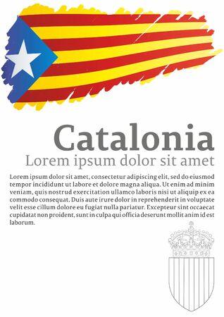 카탈루냐의 국기, 스페인의 자치 커뮤니티는 비공식적 인 플래그 카탈로니아 분리 주의자 등입니다.