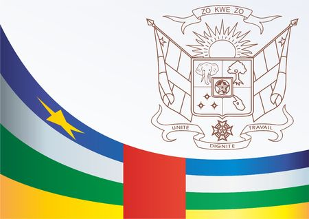 Flag of the Central African Republic, template for the award, an official document with the flag and the symbol of the Central African Republic