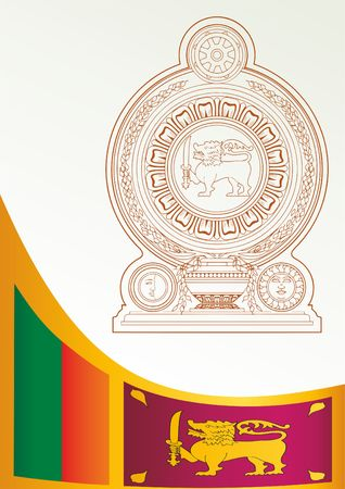 Flag of Sri Lanka, Democratic Socialist Republic of Sri Lanka, template for the award, an official document with the flag and the symbol of Sri Lanka