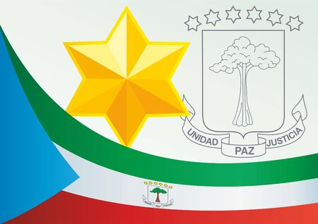 Flag of Equatorial Guinea, template for the award, an official document with the flag and the symbol of Equatorial Guinea