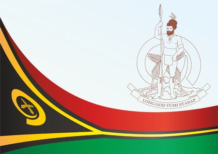 Flag of Vanuatu, template for the award, an official document with the flag and the symbol of Vanuatu
