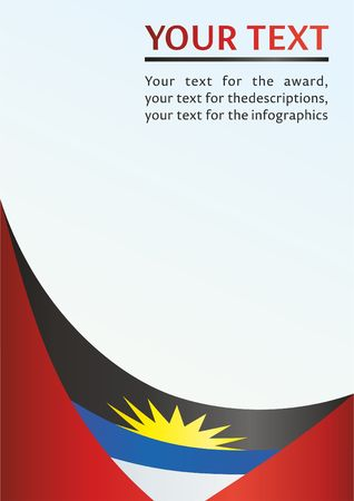 Flag of Antigua and Barbuda, template for the award, an official document with the national flag of Antigua and Barbuda Illustration