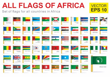 All flags of Africa, full vector collection vector illustration