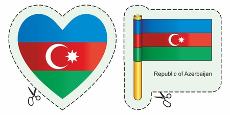 Azerbaijan Flag. Can be used for design, stickers, souvenirs.