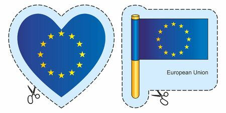 European Union Flag. Can be used for design, stickers, souvenirs. Çizim