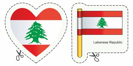 Lebanon Flag. Can be used for design, stickers, souvenirs.